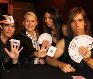 Actor Jackson Gallagher, Candice Dixon, Magician Simone Karp, Magician Jackson Aces